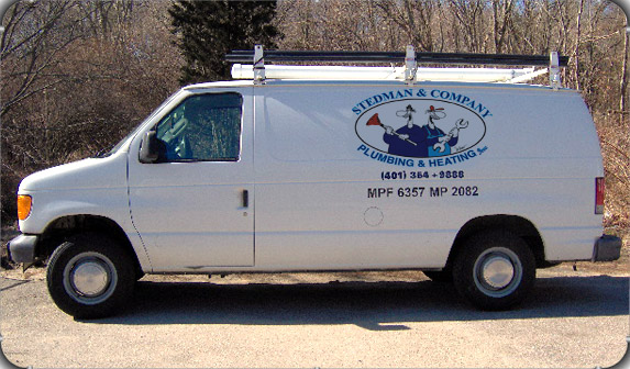 Stedman & Company service vans solving RI's plumbing & Heating problems year-round